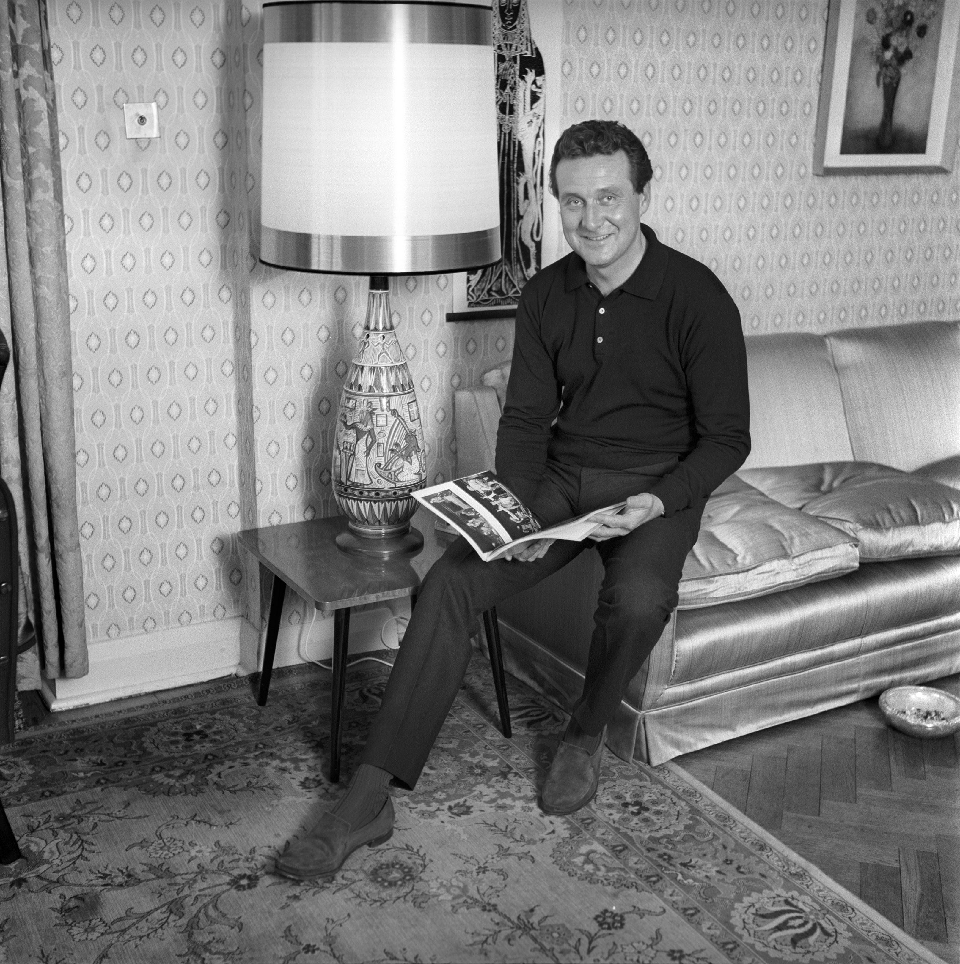 Patrick Macnee at his home in London 1962